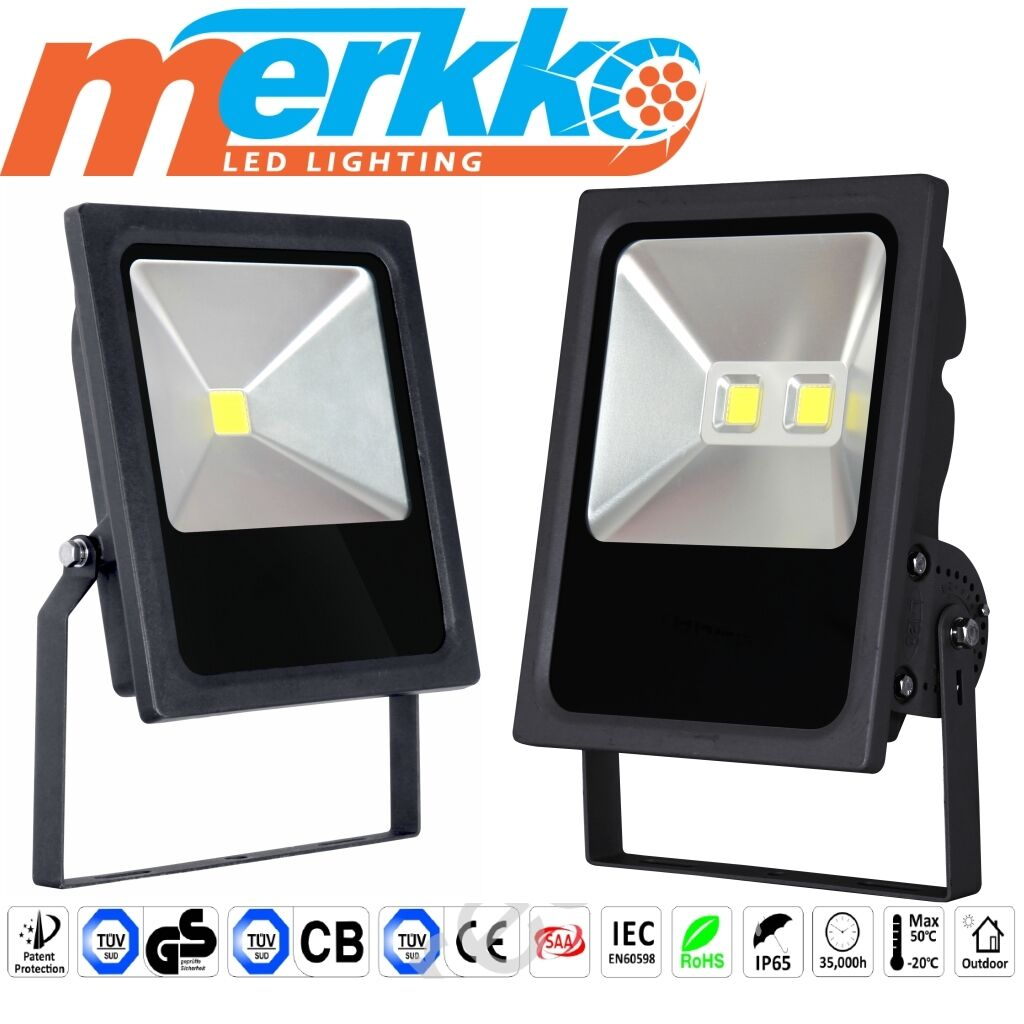 LED Commercial Floodlight Security light Outdoor  IP65 50W 100W Cool Weiß