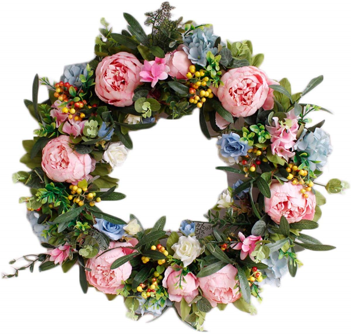 Large Home Floral Wreath Door Decor Fall Autumn Thanksgiving Grapevine Flower For Sale Online Ebay