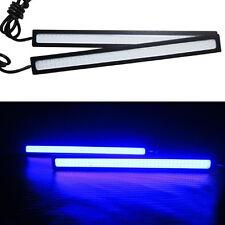 2x 17cm LED COB Car Auto DRL Driving Daytime Running Lamp Fog Light Blue 12V SQ