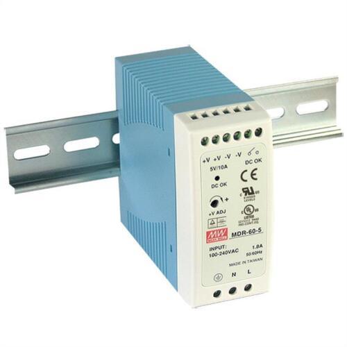 Hutschienen Netzteil 60W 48V 1,25A ; MeanWell MDR-60-48 ; Hutschienennetzteil