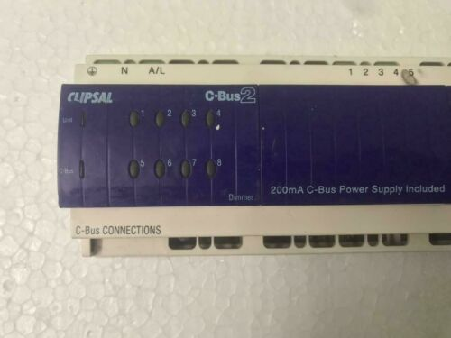 ClipSal C-Bus2 L5508D1A Series 8 Channel Dimmer Power Supply Included Used