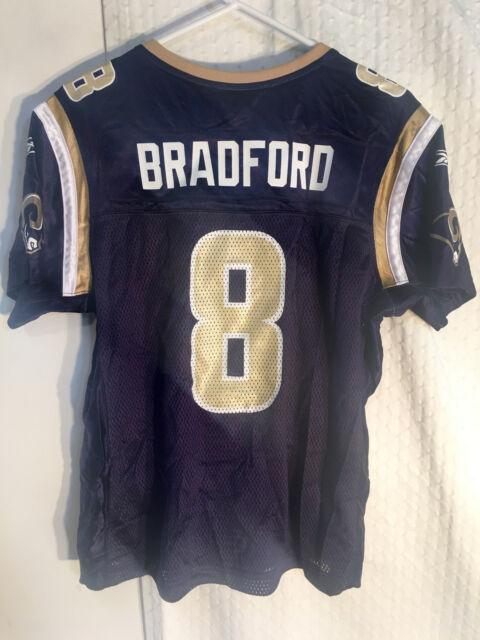 64edfc03 Reebok Women's NFL Jersey St. Louis Rams Sam Bradford Navy sz L