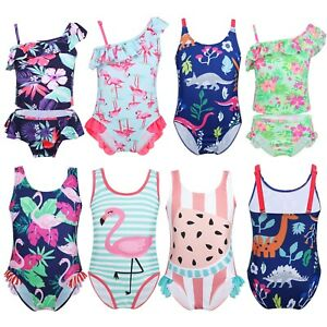 Kids-Baby-Girls-Tankini-Bikini-Set-Swimwear-Swimsuit-Bathing-Swimming-Beachwear