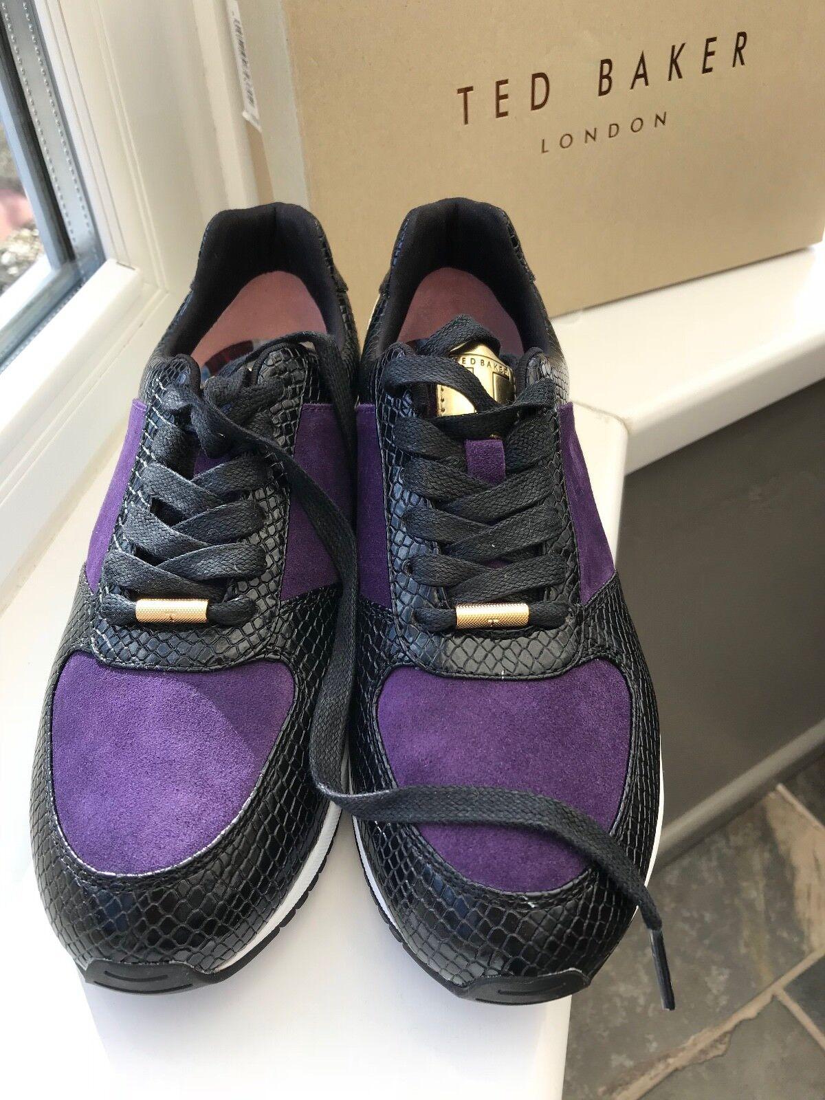 Autentico Ted Baker Kapaar nero   DK blu scarpe da ginnastica Dimensione UK 6  prezzo basso