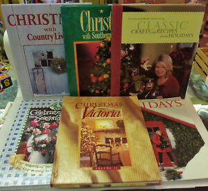 LOT-OF-6-BOOKS-CRAFT-RECIPE-HOLIDAY-DECORATING-MARTHA-STEWART-COUNTRY-LIVING