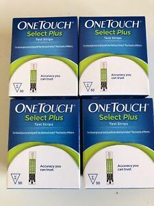4 Cajas de One Touch Select Plus Tiras Reactivas 50 (200 Tiras en Total) 12/2019