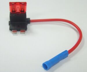 Large Blade Fuse Tap car fusebox connector with long 10A fuse easy install
