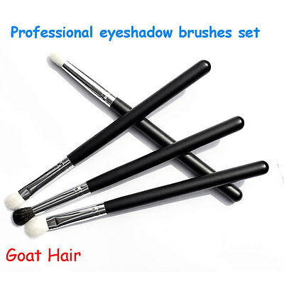 4Pcs Professional Makeup Eye Shadow Eyeshadow Blending Brushes Set Goat Hair S5