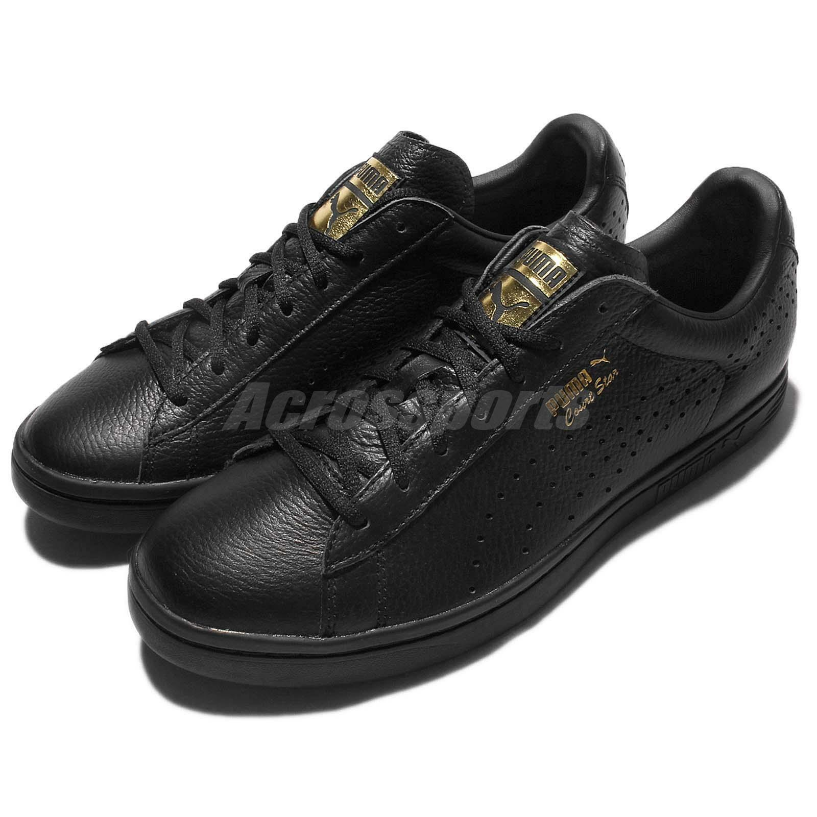 Puma Court Star Baskets Gold Triple Noir Hommes Casual Chaussures Baskets Star Trainers 361051-01 8f6719