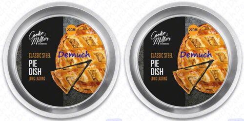 "New 8/"" CLASSIC STEEL PIE DISH Tin Round Cake Pizza Pastry Pan Quiche Tart Baking"