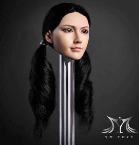 """1//6 Female Head Sculpt cheveux Noir pour Phicen Hot Toys 12/"""" figure Verycool ❶ USA ❶"""