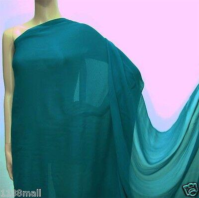 0.5 Yard (Military Blue) Pure Silk Georgette Chiffon Fabric 140cm(#205)