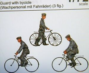 Details about CMK Maritime ML80342 1/72 Resin WWII German Guards with  Bicycles (3 Figures)