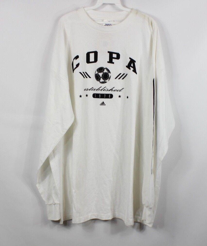 392e04d99 New Vintage 90s Adidas Mens 2XL XXL Copa Soccer Spell Out Long Sleeve Shirt