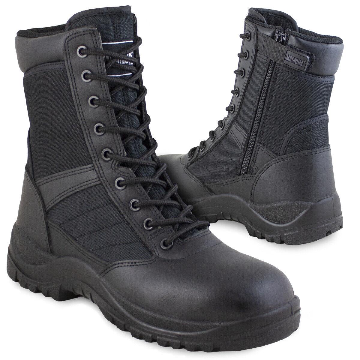 3a9e29a3 Magnum Centurion 8.0 Side-Zip Police Security Tactical Cadet Work Boots  Black