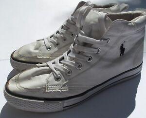 Lauren Hi Top Polo Ralph Blanc Chaussures EwUYU