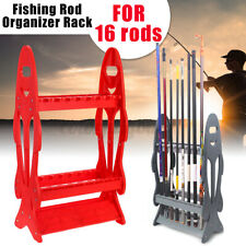 16 Rods Fishing Rod Rack Stand Combos Storage Organizer Pole For Rests Sport GB