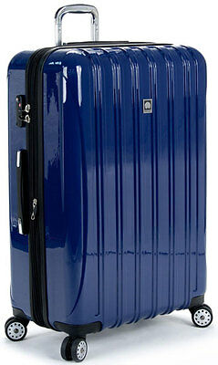 """Delsey Luggage Helium Aero 29"""" Expandable Spinner Trolley Suitcase - Blue"""