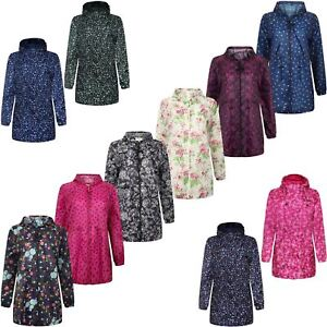 WOMENS-LADIES-RAIN-COAT-LIGHT-SHOWER-PROOF-FISHTAIL-PARKA-CAGOULE-HOODED-JACKET