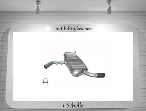 Audi A3 1.6 1.6 FSI Sportback Endschalldämpfer Auspuff Endtopf Schelle BJ.04-13
