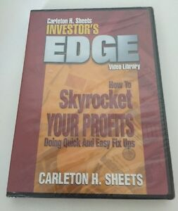 Carlton-Sheets-How-To-Skyrocket-Your-Profits-Investor-039-s-Edge-Library-DVD-NEW
