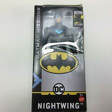 """Batman Missions Nightwing Figure Batman 80 Yrs Mattel DC 6/"""" figure New!"""