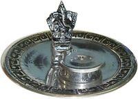 Ganesh With Altar Metal Burner Sage Smudge Cone & Stick Incense Altar 4.25 Inchs