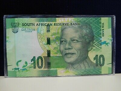 SOUTH AFRICA NELSON MANDELA 2015 10 RAND P-138b UNC NOTE RHINOCEROS USA SELLER