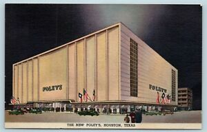 Postcard Tx Houston The New Foley S Department Store Ad12 Ebay