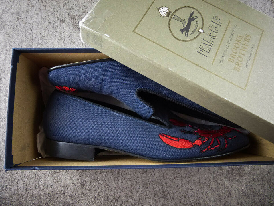 Brooks Brougehers Lobster Chaussons Mocassins Peal Co US Taille 8D NEW BOXED  248