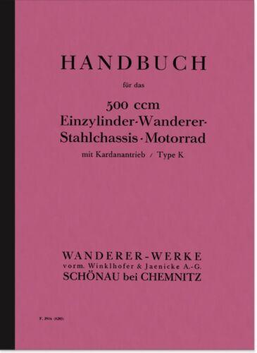 Escursionisti TRASMISSIONE K 500 1928 manuale istruzioni manuale manual