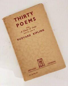 Details About Rudyard Kipling Thirty Poems 1925 Methuen Scarce In Jacket Vg
