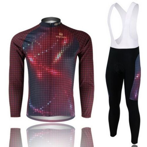 Cycling Bike Bicycle Clothing Men/'s Wear Long Sleeve Jersey Bib Pants Suit S-4XL