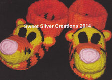 Crochet Pattern ~ ADULT TIGER SLIPPERS ~ Instructions