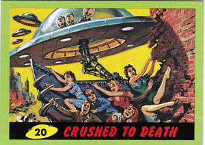 2012-TOPPS-MARS-ATTACKS-HERITAGE-GREEN-BORDER-CARD-20-CRUSHED-TO-DEATH