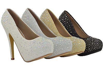 Women High Platform Heels Fashion Sexy Style Glitter Rhinestone Design
