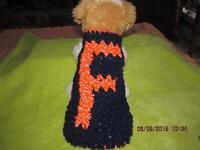Dog Apparel Orange & Black f Florida State Reflective Sports Sweater Xs