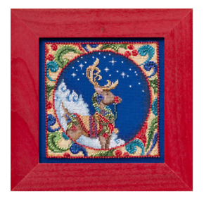 MILL-HILL-Counted-Cross-Stitch-Beads-Kit-JIM-SHORE-Christmas-Reindeer