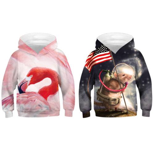 Kids Boys Girls 3D Graphic Printed Hoodies Sweatshirt Pullover Jumper Jacket Top