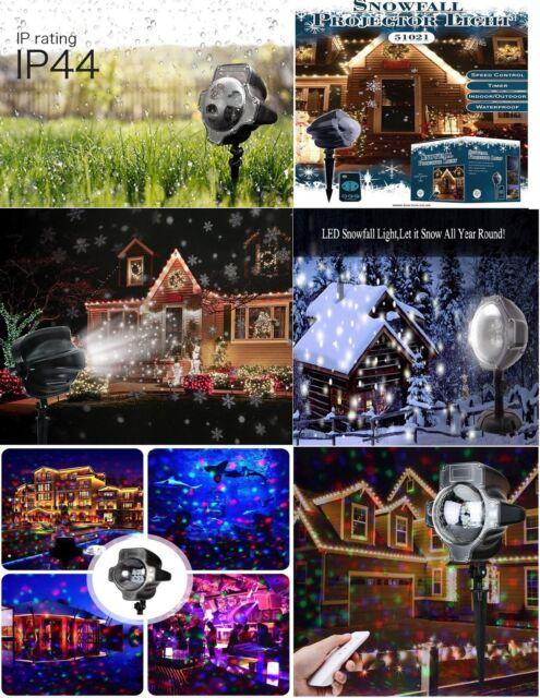 Gaxmi Snow Falling Light Christmas Led Snowfall Night Lights Projectors White For Sale Ebay