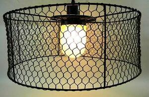 Kenroy Home H10054 Oil Rubbed Bronze Rustic Wire Mesh Fixture (B/T)