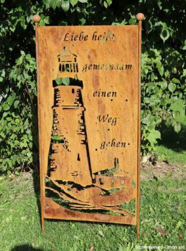 SCUDO stele FARO nobile Ruggine Gartendeko Giardino Scudo scudo di metallo Altezza 100cm