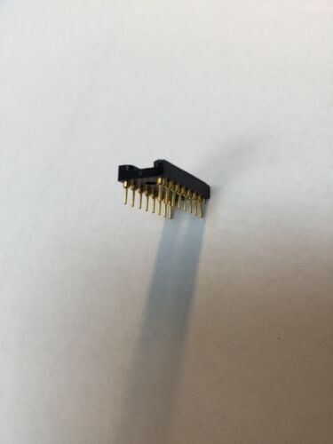 1pc Black Round hole Gold 16pin Pitch 2.54mm DIP IC Socket Adaptor Connector