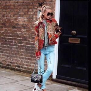 99 £79 Jacket L Zara Embroidered S Rrp Boho M Size Biker wHqTSaOqv