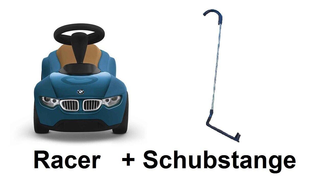 Original BMW Baby Racer III türkis braun Rutscherfahrzeug + Schubstange