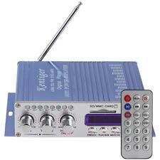 100W Power Mini HiFi Stereo 2 Channel Amplifier Car Home MP3 FM Audio Player US/