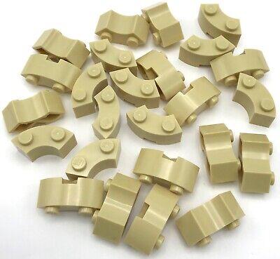4 NEW  Brick Round Corner 2x2 Macaroni w// 2 Studs BLACK Star Wars LEGOS