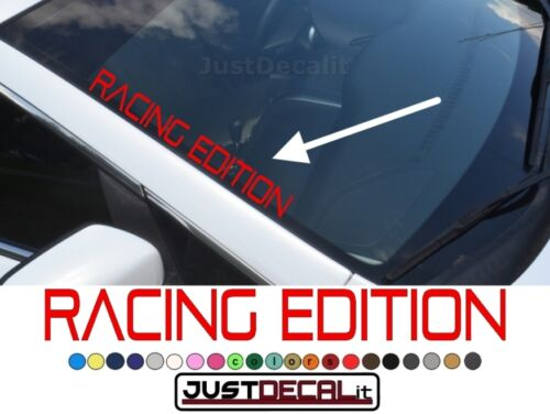 Side Windshield RACING EDITION Decal text banner graphic sticker truck car suv