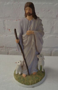 homco masterpiece porcelain jesus the shepherd figurine