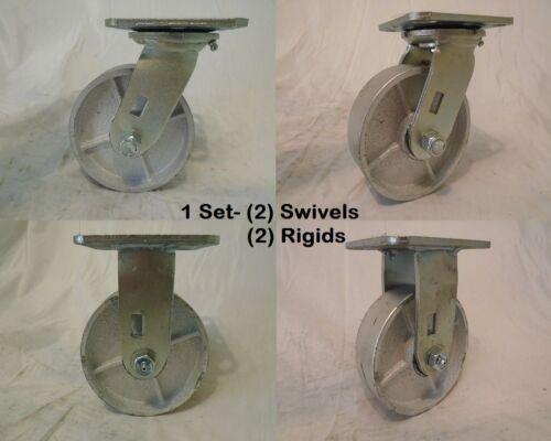 "and Rigid 2 2 5/"" x 1-1//2/"" Swivel Caster Steel Wheel 600lbs ea Tool Box"